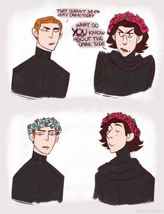 Hux you gotta start taking the dark side more seriously.