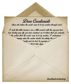 A letter to Creationists | Godinterest