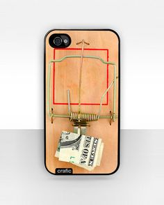 iPhone 4/4s Case, Mouse Trap with Dollar