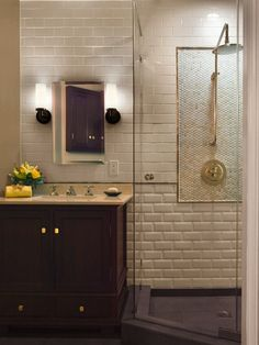I don't believe in bathtubs - they just take up space and require dusting. All you need is a powerful and beautiful walk-in shower.