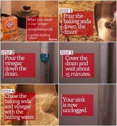 He Pours Baking Soda Down The Drain To Fix An Annoying Common Household Problem!