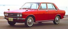 Datsun 510 ;looks like my first car but in bright yellow