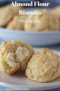 Almond Flour Biscuits (Gluten Free, Low Carb) These Almond Flour Biscuits are super easy to make in one bowl with only five ingredients. Light, fluffy and perfect as a side with any meal. great for breakfast or as a snack. Almond Flour Biscuits, Baking With Almond Flour, Almond Flour Recipes, Keto Biscuits, Healthy Biscuits, Drop Biscuits, Muffins With Almond Flour, Desserts With Almond Flour, Almond Flour Waffles