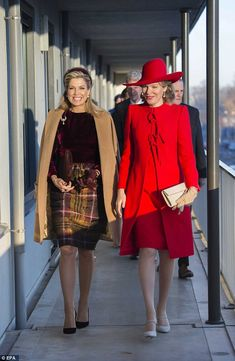 "♥•✿•QueenMaxima•✿•♥...On November 29, 2016, Queen Maxima of The Netherlands and Queen Mathilde of Belgium visited ""Rooms with Opportunities"" in Amsterdam. Rooms with Opportunities, of welfare organization Combiwel, prepares young people who prematurely left their school to independent living by offering them a job or to earn a diploma. The Belgian royal couple is on their second day of a three-day state visit to the Netherlands."