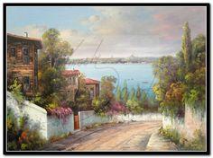 çerçeveci / Tablocu Kıraçtı Resim ve çerçeve - WwW.Kiracti.CoM Pictures To Draw, Bird Houses, Home Art, Landscape Paintings, Istanbul, Illustration, Country Roads, Florida, Clip Art