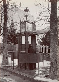 France, Paris - example of a 'pissoir' from 19th and 20th century.
