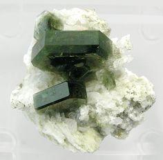 Fluorapatite with Albite Mineral Specimen - Large Photo - Fabre Minerals / Mineral Friends <3