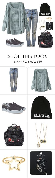 """Alison # 12"" by browneyes-ari-ang ❤ liked on Polyvore featuring Anine Bing, Vans, Disney, Monica Rich Kosann, Adina Reyter and Topshop"