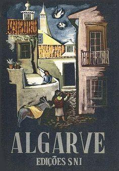 Vintage Travel Poster - Algarve - Portugal - by Alexander H. Stuart - c1947.