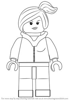 How to Draw Wyldstyle from The LEGO Movie – Wie zeichnet man Wyldstyle aus dem LEGO Film – … Lego Film, Lego Movie, People Coloring Pages, Lego Coloring Pages, Coloring Books, Lego Themed Party, Lego Birthday Party, Lego Disney, Lego Challenge