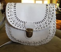 Perfect little white over the shoulder purse
