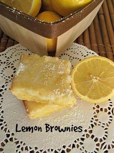 What's For Supper?: Lemon Brownies