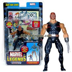 ToyBiz Year 2006 Marvel Legends Giant Man Series 6 Inch Tall Action Figure - Age of Apocalypse WEAPON X (Burnt Face Variant) with 32 Points of Articulation, 32 Page Comic Book and Giant Man Left Hand