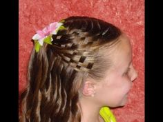Basketweave hair. Can't wait to try this. Maybe I will try and find a cute bow and do this for church Sunday.