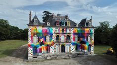 Artist Brings Striking Pop Surrealism To An Abandoned French Castle,© Spencer Chopem Down