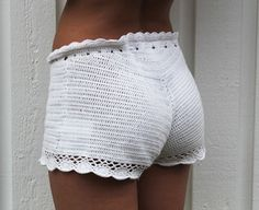 Crocheted booty shorts! Yes!