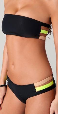 Undrest  Rio Caged Back Bandeau Bikini Top