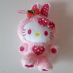 Set Of 3 ! Hello Kitty* Colorful Bunny Plush Toy Dolls Mascot Charms 5.9(15 Cm)
