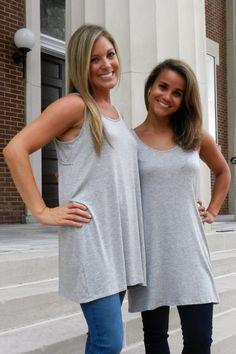 Versatile Gray Top – Madison Kate Boutique