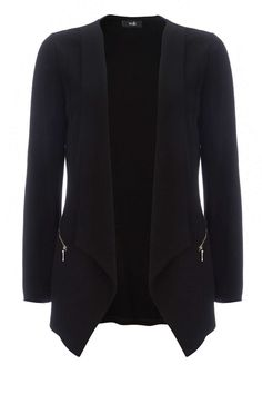 Petite Black Drape Jacket