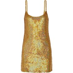 Ashish Sequined silk-georgette mini dress (11,100 MXN) ❤ liked on Polyvore featuring dresses, ashish, gold, party dresses, short cocktail party dresses, 80s party dress, short sequin dress and sequin mini dress