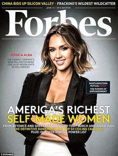 Doing good: Forbes have the star on the cover of the June edition and revealed she is wort...