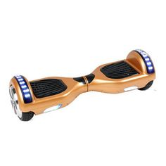 LED Classic Scooter Smart Balance Wheel Bluetooth 6.5 Inch Hoverboard Champagne