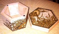 Work in Progress: Steampunk Henna Designs on Wood Box. Real Tattoo, Wood Boxes, Henna Designs, Steampunk, Decorative Boxes, Painting, Home Decor, Henna Art Designs, Wooden Crates