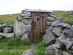 A different kind of portal: outhouse, Eidfjord, Hordaland, Norway