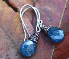 Handmade+Wire+Wrapped+Apatite+Earrings+Oxidized+by+justbethlevey,+$22.00