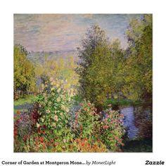 Corner of Garden at Montgeron Monet Fine Art Poster