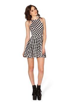 Indy Check Skater Dress | Black Milk Clothing