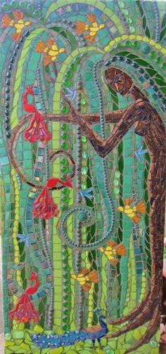El sauce contento mosaico diosa árbol