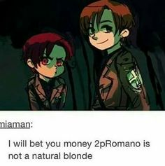 i could see that actually, he seems like the one who would dye his hair