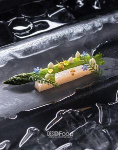(Art on Ice) Trout-Asparagus pairing photo by DESIGNFood Antonio Photography - The ChefsTalk Project