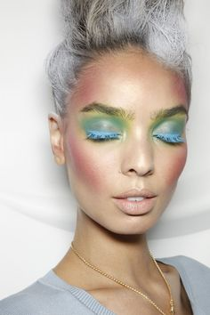 Vivienne Westwood spring/summer 12 makeup.