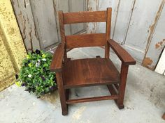 Small Rocking Chair, Mission Oak Furniture, Rocking Chair For Toddlers, Antique…