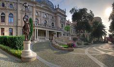 Poznanski Palace in Łódź [fot. Poland Cities, Sidewalk, Around The Worlds, Mansions, Landscape, House Styles, City, Pictures, Image