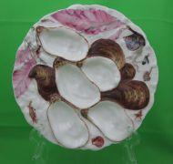 Antique Haviland Limoges Turkey Oyster Plate, Shells & Sea Life