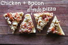 WE EAT | Chicken + Bacon Alfredo Pizza (with Greek Yogurt)
