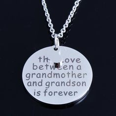 """Grandsons will always hold a special place in their grandmothers' hearts, whether they're close by or live far away. A wonderful gift for a beloved grandmother, this necklace reminds the wearer that """""""