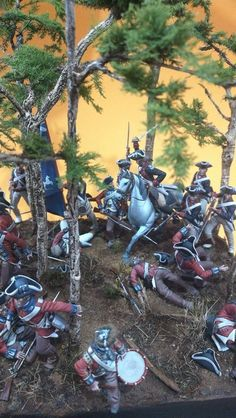 French History, American War, Miniatures, British, Painting, Art, Dioramas, Craft Art, Paintings