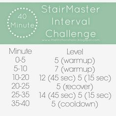 40 Minute StairMaster Challenge