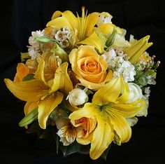Asiatic Lily Bridal Bouquet | Yellow Lily Bridesmaid Bouquet photo YellowLily.jpg