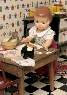 Yes, I want this cute little doll and all her cute little stuff in my home