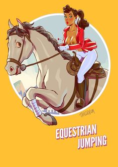 Summer Games, Winter Games, Calendar 2017, Summer Olympics, Illustrations, Pin Up Art, Bored Panda, Olympic Games, Equestrian