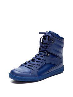 Emporio Armani Leather High-Top Sneaker