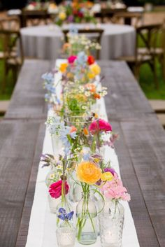 A Wedding at Home? Sign Us Up! When your family owns a home on Edisto Island, choosing to host an at-home wedding is sort of a no-brainer. And so is decorating your Big Day with colorful details, like crazy gorgeous blooms from Sar. Wedding Table, Rustic Wedding, Wedding Ceremony, Reception, Eclectic Wedding, Garden Party Wedding, Dream Wedding, Wedding Day, Wedding At Home