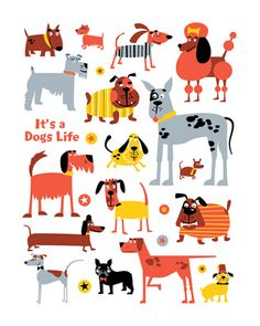 Dogs by Ed Miller Design, via Behance
