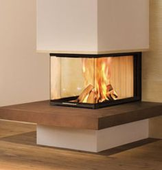 Wood-burning closed hearth for 3 sided fireplaces LINEAR: ARTE U-70H Spartherm Feuerungstechnik GmbH